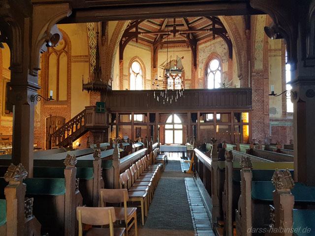 Kirche in Wustrow von Innen