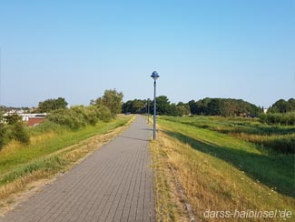 Radfahren auf dem Bodden - Radweg